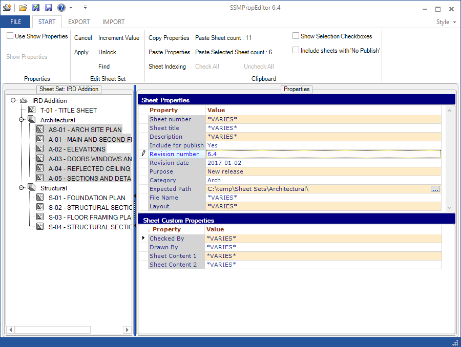 JTB World Blog: SSMPropEditor 6 4 available - Sheet Set Manager Editor