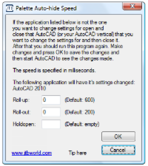 Palette Auto-hide Speed for AutoCAD