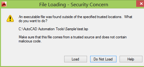 AutoCAD 2014 File Loading Security Concern