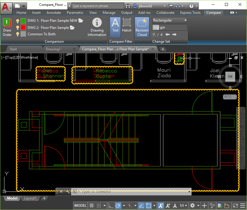 dwg compare does not support the following objects during the drawing  comparison process: