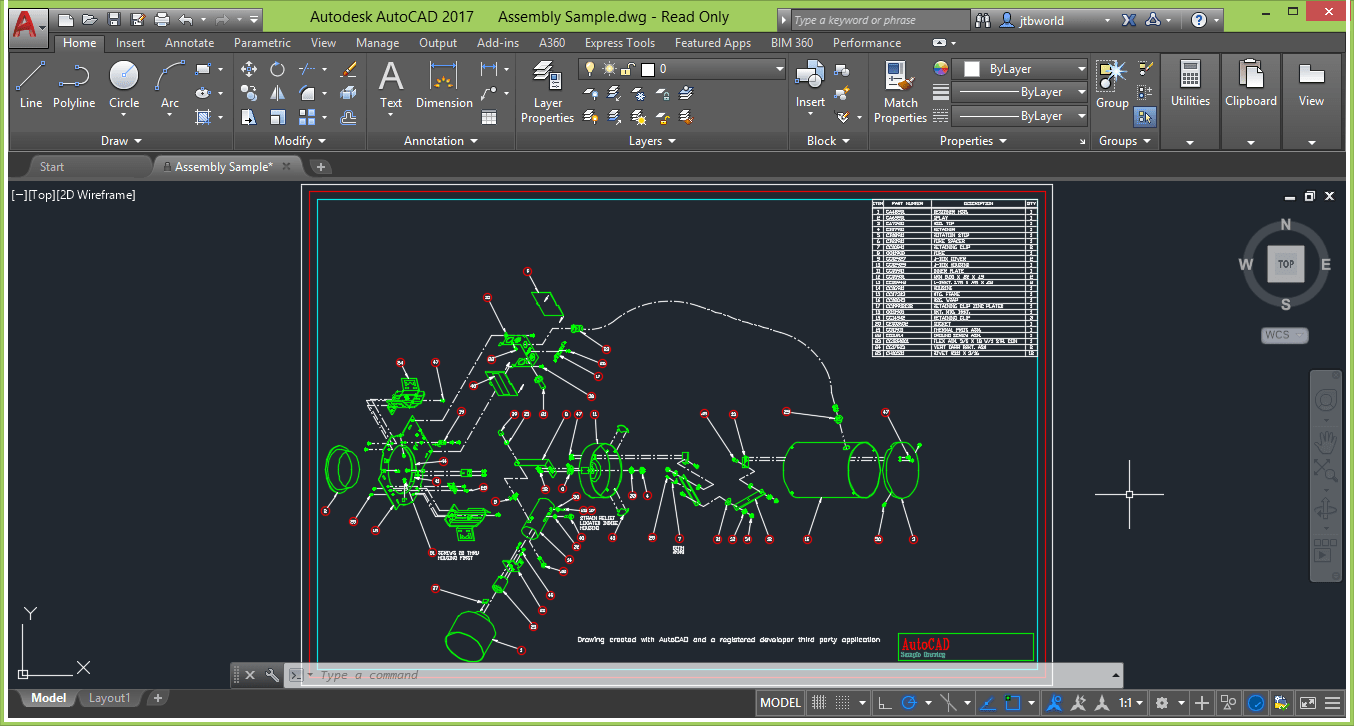 AutoCAD 2020 screenshot