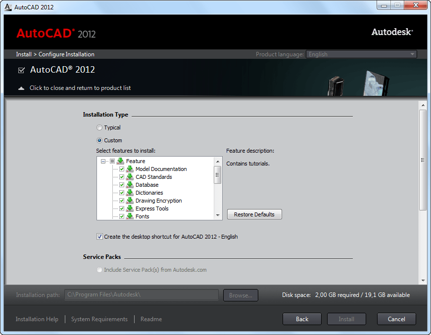 autocad 2012 free download for windows xp 32 bit