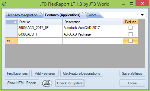 JTB FlexReport LT 1.3